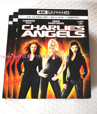 Lucky 1of1收藏BD正版藍光 Charlie's Angels 霹靂嬌娃 4K UHD 碟中字US紙套