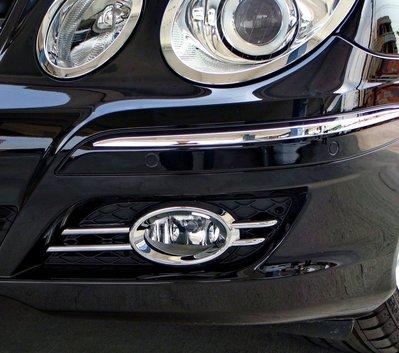 圓夢工廠 Benz 賓士 E W211 E200 E240 E280 E300 06~09 改裝 鍍鉻銀 前保桿 霧燈框