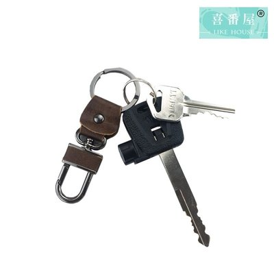 【喜番屋】真皮頭層牛皮復古腰掛鑰匙包鑰...