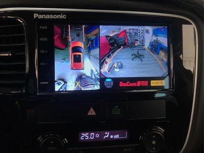 三菱 outlander 原車音響系統升級360環景 行車記錄 熄火錄影 台中 巨博