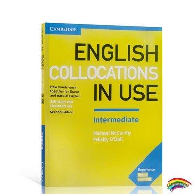 英文原版劍橋中級英語搭配第二版 English Collocations in Use Intermediate  帶答案 英語詞匯學習自學工具書