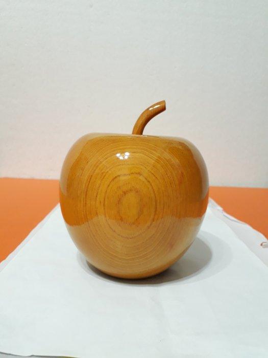 【九龍藝品】精選檜木 ~ 蘋果聚寶盆 ~ 寬約12公分 ( S2 )