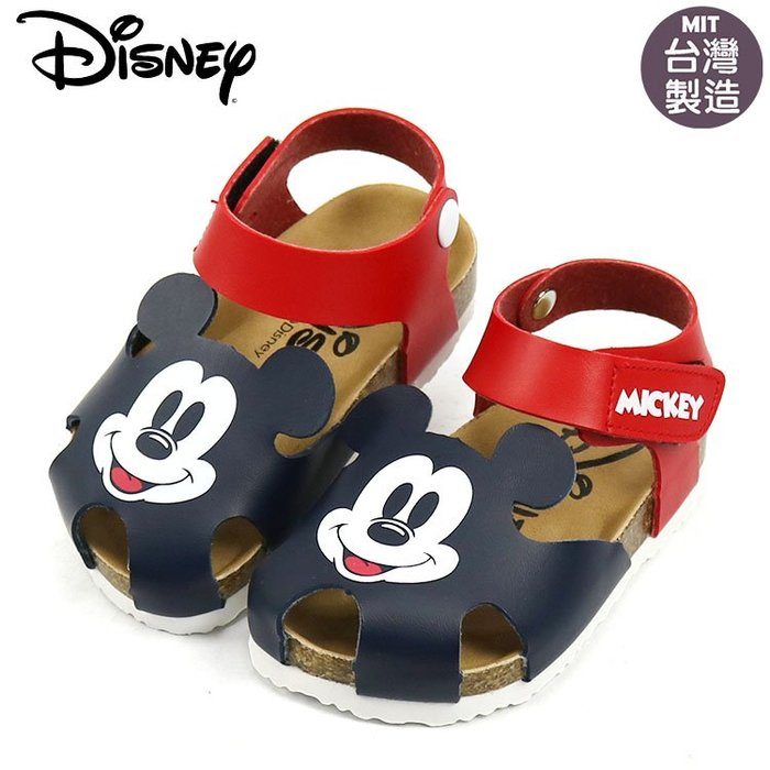 童鞋/正版Disney迪士尼米奇護趾氣墊涼鞋.童鞋.黑色(119329)紅14-19號