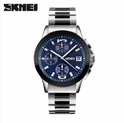 【潮鞋基地】時刻美男士手錶防水時尚石英手錶潮流商務六針鋼帶復古腕錶