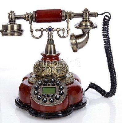 INPHIC-歐式電話機復古電話機高檔座機家用復古電話機來電顯示電話機
