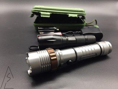 阿莎力 附發票 三套免運 爆亮強光 L2級 尖刺強光手電筒 防身 居家安全 2