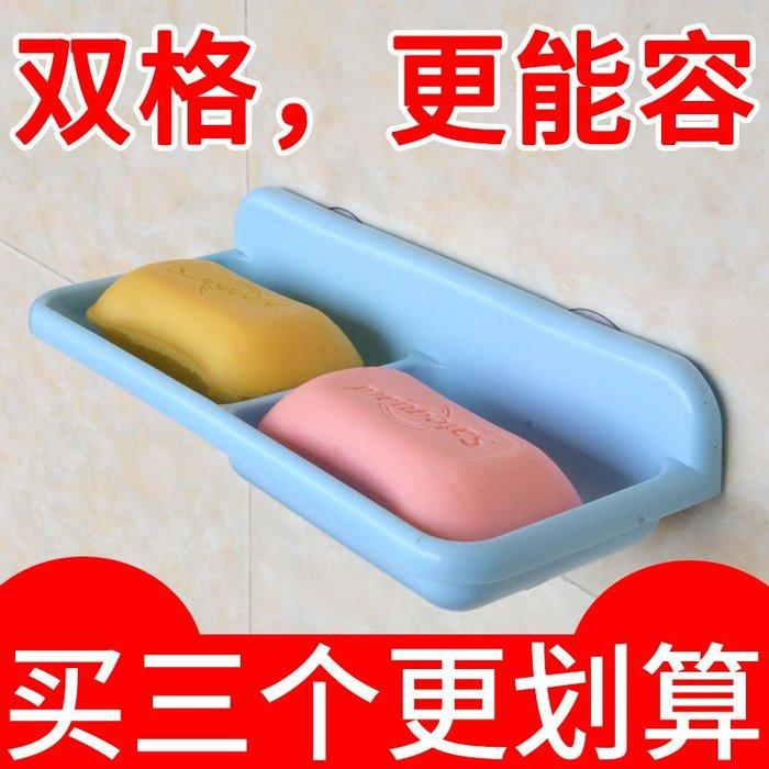 奇奇店-創意雙格瀝水肥皂架強力吸盤香皂架浴室多層置物肥皂盒雙層香皂盒#構思新巧  #精巧別致 #經久耐用