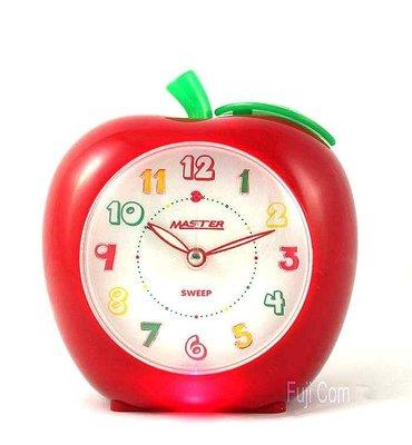 【Asiahito】Master靜音蘋果造型鬧鐘JM-E611