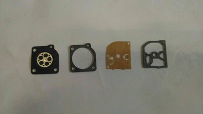 德國系統 引擎鏈鋸 化油器膜片一組+透明按油球2個