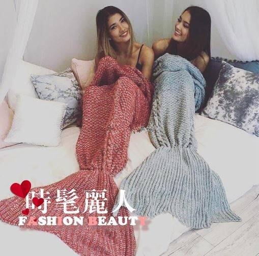 美人魚毯子明星同款毛毯毛線針織魚尾巴毯沙發蓋毯空調毯禮物保暖