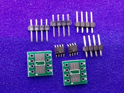 PIC 12F629 微處理器 SOP-8 單晶片 1組2個 + 2個小基板 + 4排針