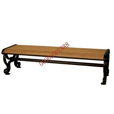 [自然傢俱坊]-樂活-塑木仿木戶外休閒三人長板凳/公園長椅/社區休憩椅(DIY)-SH-8A34A02-(寬170CM)