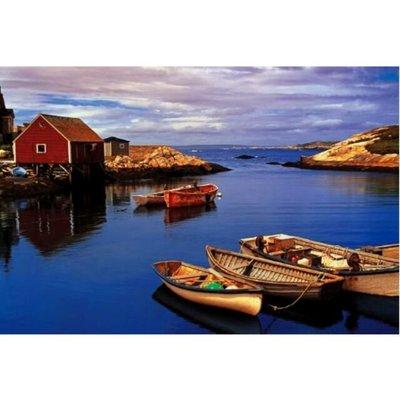 -小米拼圖坊-香港Tomax(圖美)1000片拼圖加拿大湖景 港灣