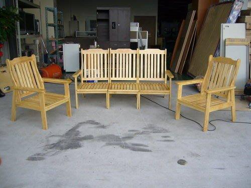 宏品二手家具館 全新庫存木頭沙發椅 單面實木椅 客廳桌椅 5人座木板椅 開幕超低價