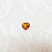 天然香檳色心形黃寶石1.08克拉有保單