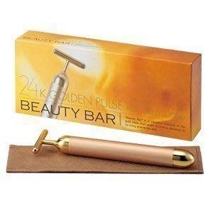 *日式雜貨館*可刷卡 日本 Beauty Bar BM純金離子美人棒 瘦臉器 24K純金 含郵寄掛號 送精美餐具1份