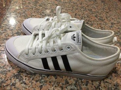 《保證真品》愛迪達Adidas Original 白色帆布鞋NIZZA男運動鞋