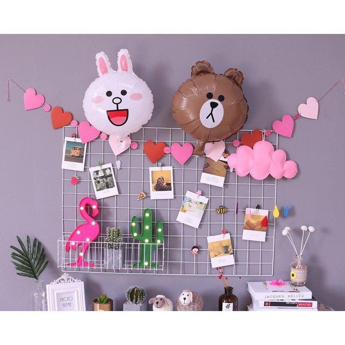鐵藝網格照片牆創意簡約小清新置物架夾子懸掛鐵架相片牆裝飾