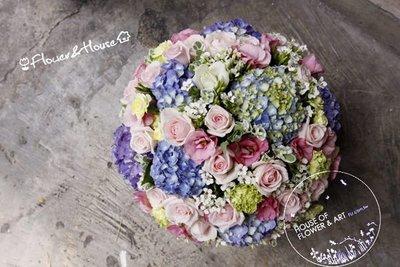 【Flower&House花藝之家】B48。婚禮主桌。盆花。開幕。喬遷。升遷。生日花禮。台北花店。