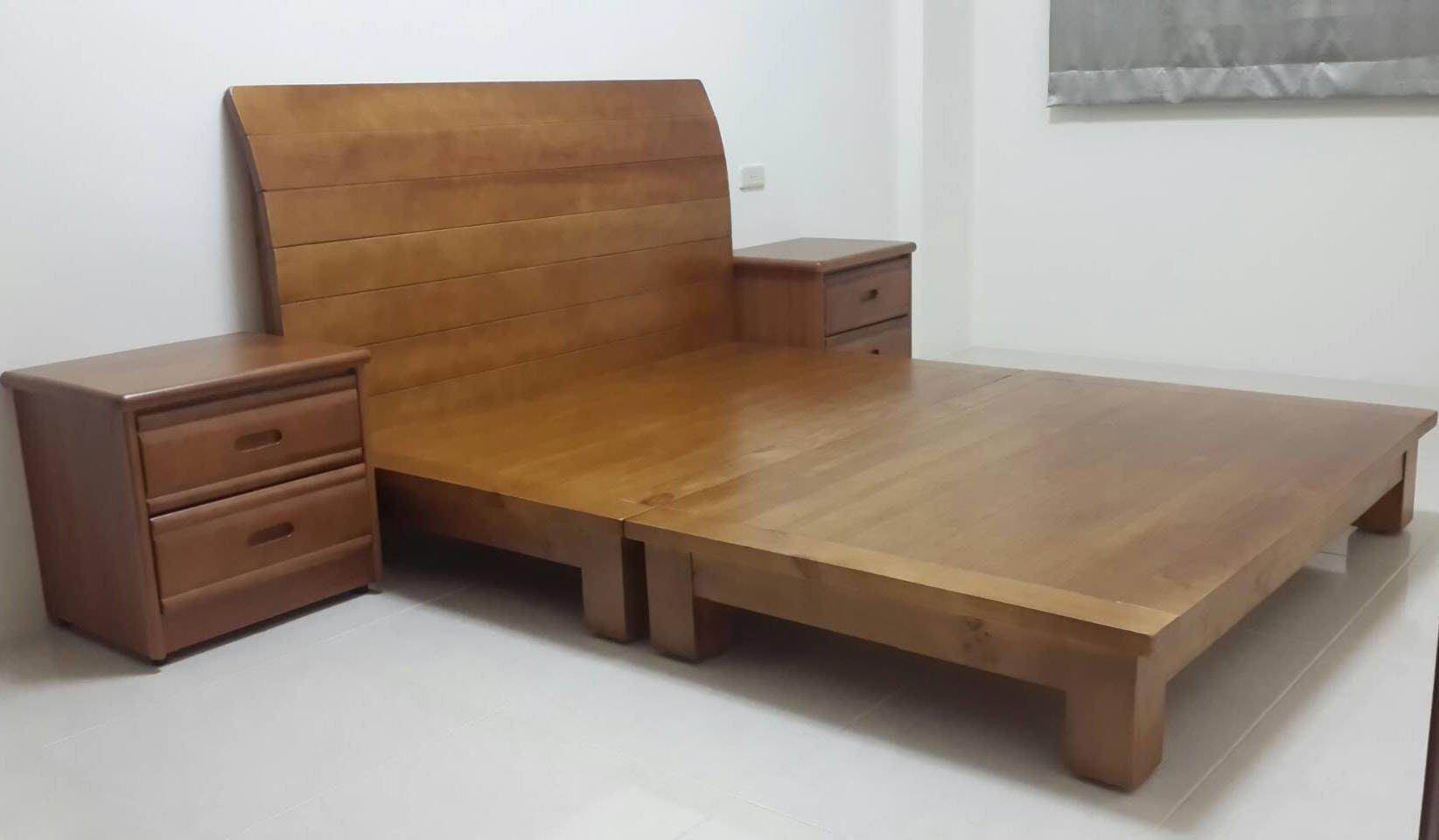 【南台灣傢俱】6尺100%全實木檜木雙人床架.床台***市價$19000元,特價$13900元全省免運費