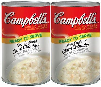 【代購屋】Costco 好市多 代購 CAMPBELL'S 金寶湯 新英倫蛤蜊巧達濃湯 (1410g*2罐)/蛤蜊濃湯