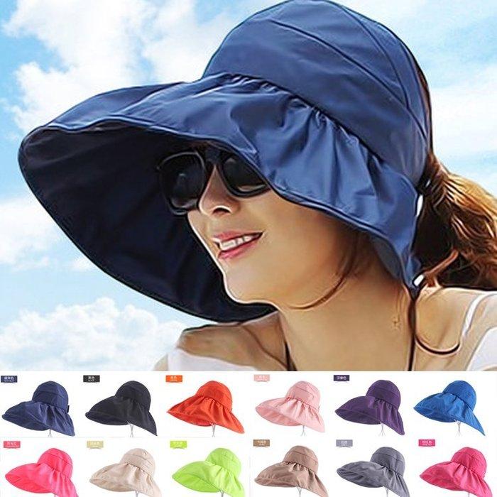 明星衣櫃=帽子女士遮陽帽夏天韓版潮防紫外線大沿沙灘防曬太陽帽可折疊涼帽=棒球帽 草帽 漁夫帽 鴨舌帽 遮陽帽