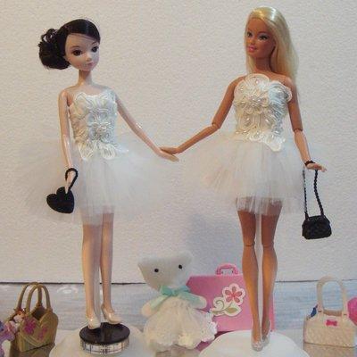 ♥萌娃的店♥ 可兒娃娃 芭比娃娃 高級訂製禮服 衣服 洋裝 紗裙 Doll Evening Gown