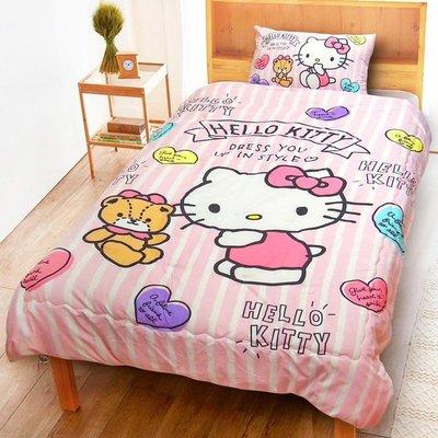 【小如的店】COSTCO好市多線上代購~舒柔水洗被-Hello Kitty(150x200公分)