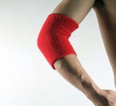 紅色 護肘帶 護手臂 手肘 Elbow 橡筋 毛巾 汗帶 汗巾 籃球 網球 乒乓球 足球 羽毛球 運動 X200