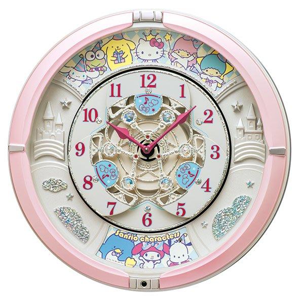 41+ 日本代購 四月底下訂單 母親節前可到貨 SANRIO 人氣角色 日本 SEIKO 精工 音樂鐘