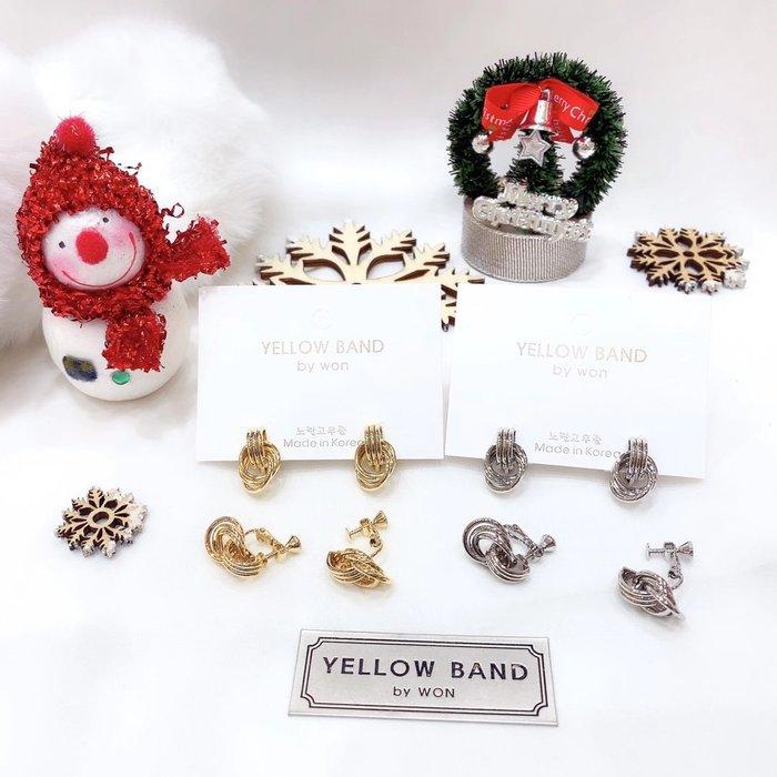 *~fuyumi boutique~*100%正韓 新款 多圈造型耳夾耳環 金/銀 不列入賣場優惠