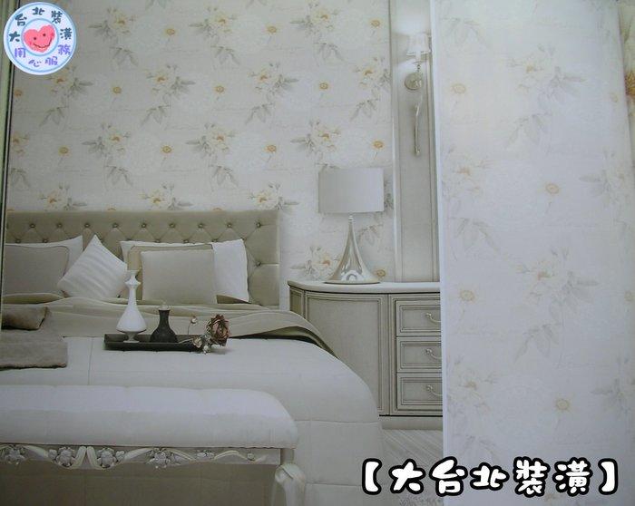 【大台北裝潢】FZ國產現貨壁紙* 圓蕾絲 溫柔鄉村花朵(2色) 每支720元