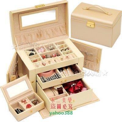 美學204首飾盒 花蝴蝶 化妝盒 歐式 帶鎖 飾品盒化妝箱 首飾收納盒38❖98139