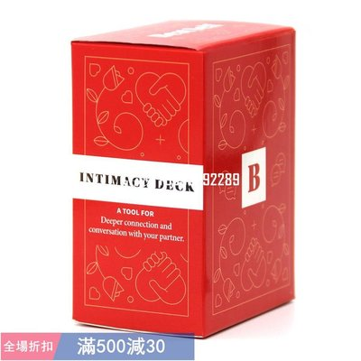 Intimacy Deck Couple Card桌遊 娛樂 遊戲 卡牌 Game 情侶加深情感溝通英文卡牌游戲