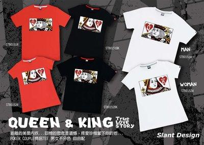 SLANT POKER COUPLE Queen & King love story 皇后與國王情侶兩件合購 限量T恤