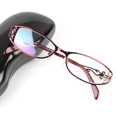 女士金属合金全框近视眼镜架精美镂空眼镜框