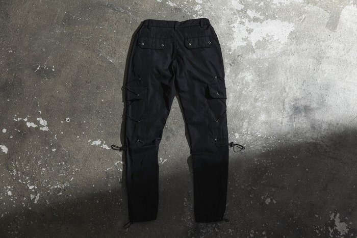 【MASS】FASHION KILLA 19 S/S NYLON CARGO PANTS 抽繩 工作褲 黑色
