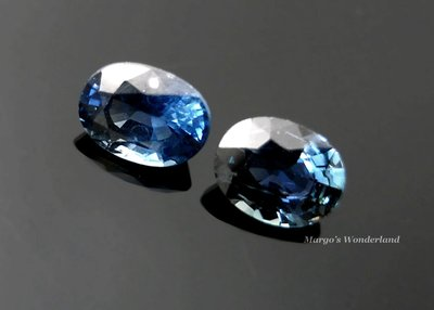 GA114 天然藍寶石SAPPHIRE/橢圓形~ 1.98ct 《耳環對石》