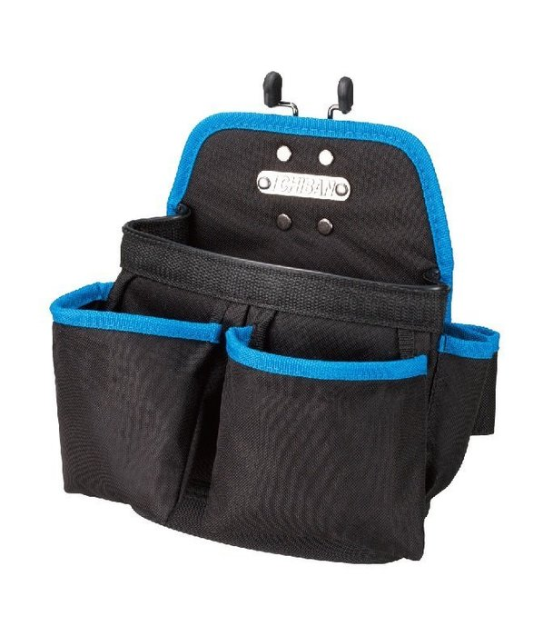 【I CHIBAN 工具袋專門家】JK6002 夾型雙口釘袋  快拆系列 耐用防潑水 腰袋 插袋 工作袋 零件袋 收納袋