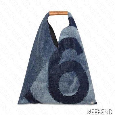 【WEEKEND】 MM6 MAISON MARGIELA Japanese Denim 小款 牛仔 托特包 藍色
