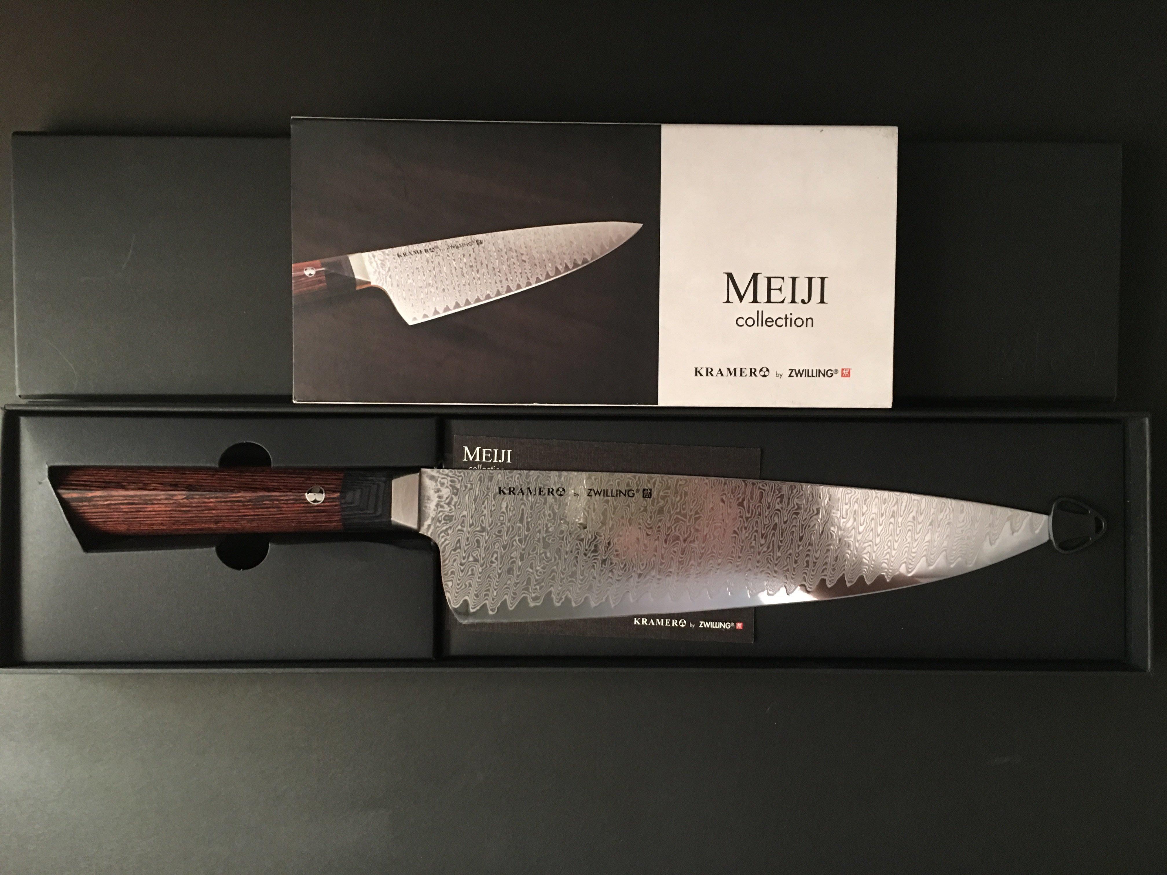 現貨特價!! 德國雙人牌ZWILLING BOB KRAMER MEIJI Damascus 26cm 頂級主廚刀