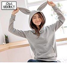 加大碼 全尺碼 KG0421 造型兔耳連帽內刷毛上衣