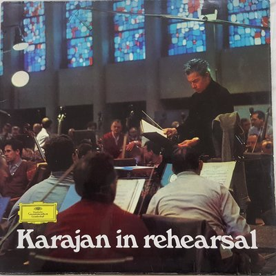 KARAJAN in rehearsal uk dgg with catalogue and dgg crossword