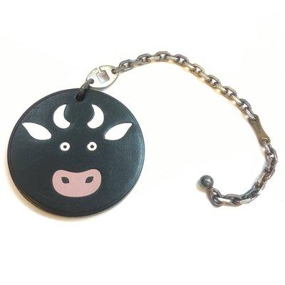 *金選名店*HERMES 黑牛動物造型...