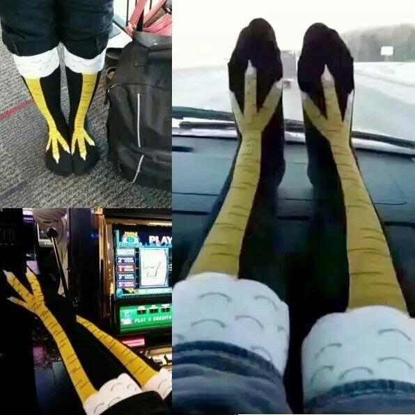 瞳瞳屋KUSO雞爪鳥腿長統襪】創意 顯瘦 搞怪 禮物 交換禮物 生日禮物 現貨 長襪 襪子超創意搞怪的襪子