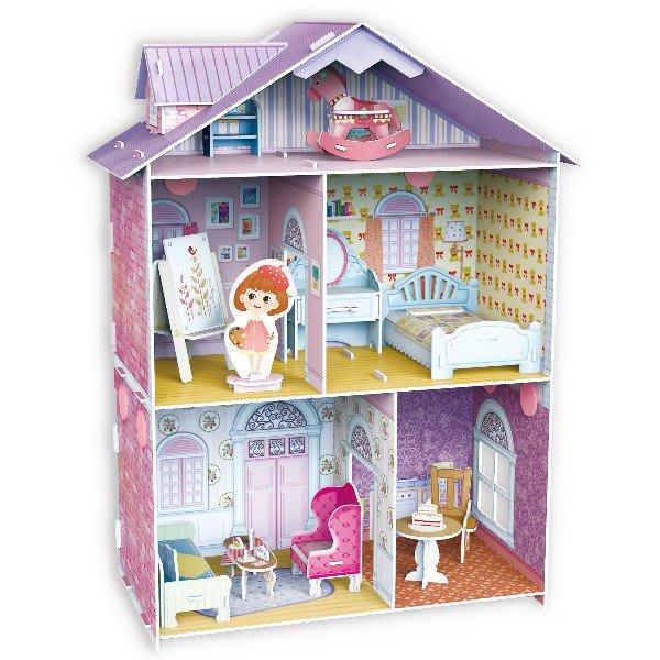 佳廷家庭 DIY紙模型3D立體勞作拼圖專賣店 甜蜜居家佈置 夢幻洋娃娃屋6 藝術家至尊版 樂立方K1201
