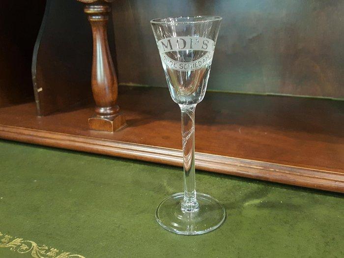 【卡卡頌 歐洲跳蚤市場/歐洲古董 】法國老件_高腳 logo水晶玻璃杯 酒杯 (高14.3cm) g0305