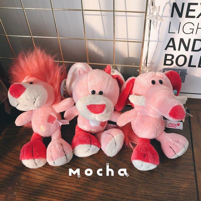 粉紅少女心top同款粉色撲克獅子大象公仔爆炸頭娃娃毛絨玩具公仔