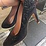 典精品名店 Chanel 真品 G27320 黑色 山茶花 全皮 高跟鞋 尺寸 37 現貨