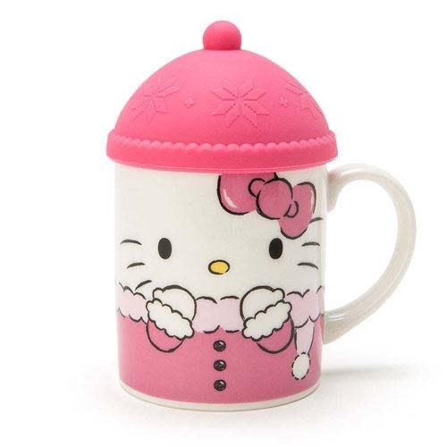 (預購商品) 牛牛小舖**日本空運代購 三麗鷗系列雪花帽系列附蓋馬克杯 共3款